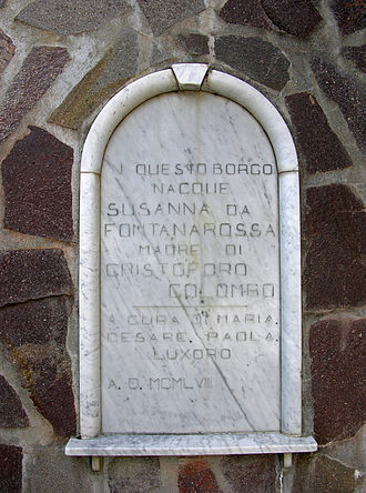 Susanna Fontanarossa - Plaque dedicated to Susanna Fontanarossa