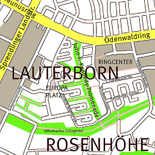 Offenbach-Lauterborn Stadtteil of Offenbach am Main in Hesse, Germany