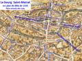 Le bourg St-Marcel sur plan de Bâle de 1550.png