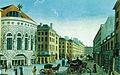 Le théâtre de l'Opéra-Comique rue Feydeau - Dessin de Courvoisier, gravure de Dubois - Parouty 1998 p16.jpg