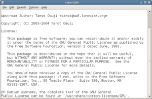Text editor - Editors like Leafpad, shown here, are often included with operating systems as a default helper application for opening text files.