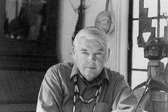Lee Mullican - Lee Mullican in his Santa Monica residence (1970)