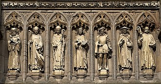 Leicester Cathedral - Vaughan Porch statues