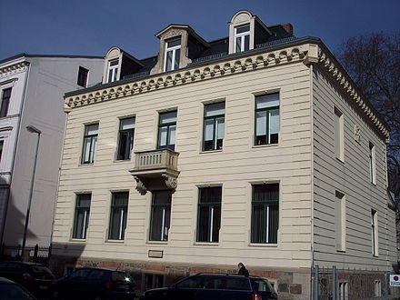 Mahler's home in Leipzig, where he composed his First Symphony Leipzig GustavMahler Wohnhaus.jpg