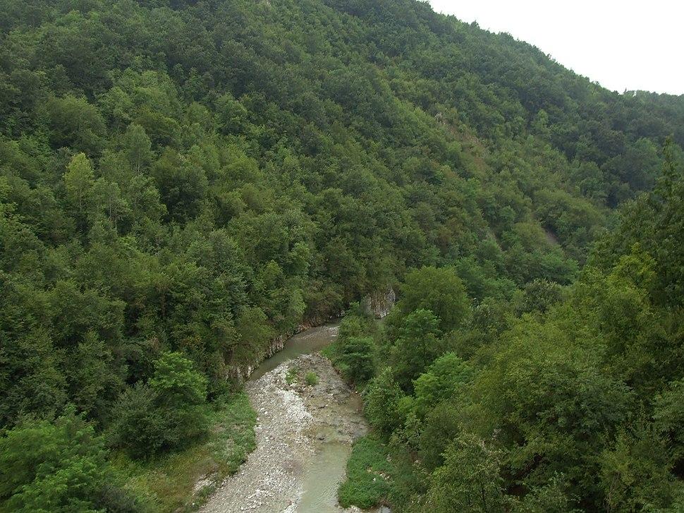 Lelić, kaňon řeky Gradac