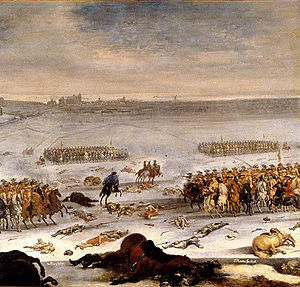 Skåneland - Painting by Swedish-German artist Johan Philip Lemke of the 1676 Battle of Lund during the Scanian War, the bloodiest battle ever fought between Denmark and Sweden