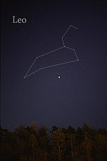 The Constellation Of Leo As It Can Be Seen By The Naked Eye Lines Have Been Added