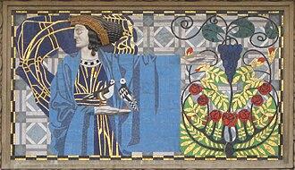 Leopold Forstner - Mosaic over the entrance to Frankenberggasse 3, in Vienna