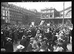 Les mobilisés parisiens devant la gare de l Est le 2 août 1914