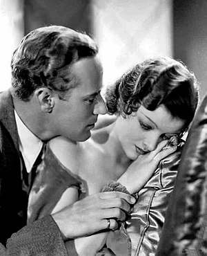 Myrna Loy - Leslie Howard and Myrna Loy publicity photo for The Animal Kingdom, 1932