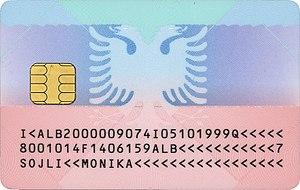 Albanian Identity Card - Image: Leternjoftimi shqiptar biometrik