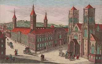 Saint Lambert's Cathedral, Liège - St. Lambert's Cathedral and Palace, 18th century