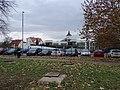 Libeň, Střelničná, parkoviště P+R u stanice Ládví.jpg