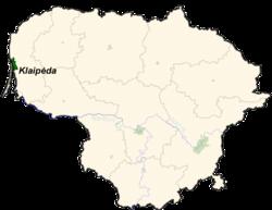 Location of Klaipėda