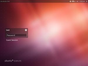 LightDM - Image: Light DM 1.2.1 on Ubuntu 12.04