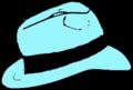 Light Blue Fedora hat.png