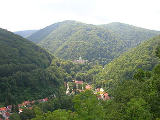 North Hungarian Mountains - The view of the valley of Lillafüred in Bükk mountains. Although this is not the highest part of the county, the landscape is typical of Hungarian mountains.