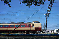 Limited Express Azusa at Mitaka Station (472441446).jpg