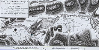 Second Battle of Zurich - Map showing the French positions in the Limmat Valley (1801)