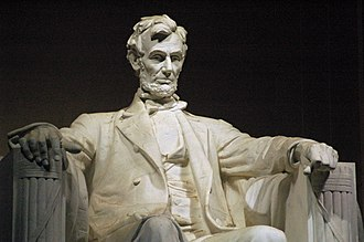 Lincoln Memorial - Abraham Lincoln, by Daniel Chester French