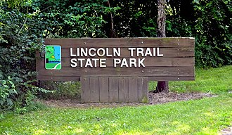 Lincoln Trail State Park - Entrance to Lincoln Trail State Park