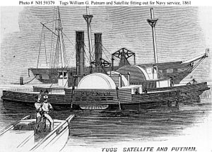 Line engraving - A line engraving of the ship Putnam of the U.S. Navy, from the U.S. Naval Historical Center