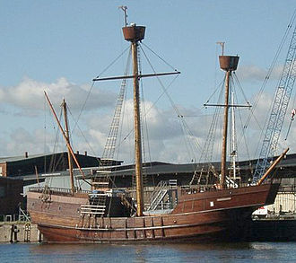 Ship replica - A replica of the 15th-century caravel Lisa von Lübeck.