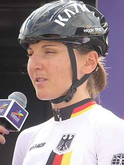 Lisa Brennauer - 2018 UEC European Road Cycling Championships (Women's road race).jpg