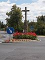 Listed Vitéz crucifix in Alsódiás, Gyenesdiás, 2016 Hungary.jpg