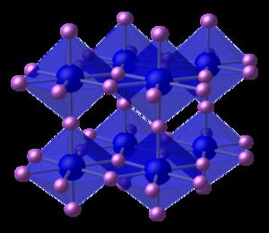 Lithium nitride - Image: Lithium nitride xtal CM 3D polyhedra