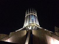 Liverpool Metropolitan Cathedral at night 22 January 2016.jpg