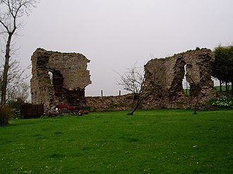 Llanddew - Remains of the Bishop's Palace, favoured residence of Giraldus Cambrensis (Gerald of Wales)