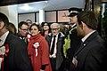 Llegada al John Mackintosh Hall de Joe Bossano en la mañana en que se conocerán los resultados de las elecciones generales de Gibraltar (23052698940).jpg