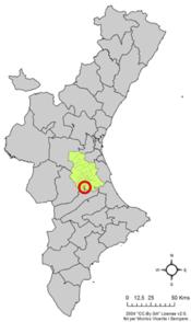 Localització d'Alcàntera de Xúquer respecte del País Valencià.png