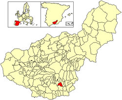 Location of Almegíjar