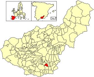 Almegíjar - Image: Location Almegíjar