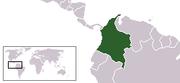 Localización de Colombia