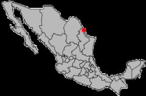 Miguel Alemán, Tamaulipas - Image: Location Nuevo Laredo