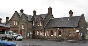 Lockerbie railway station - The exterior of Lockerbie station