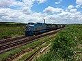 Locomotiva de comboio que passava sentido Guaianã pelo pátio da Estação Pimenta em Indaiatuba - Variante Boa Vista-Guaianã km 216 - panoramio.jpg