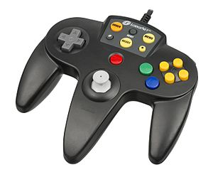 SONIFI Solutions - The Nintendo 64 LodgeNet controller, which could be used to play N64 games.