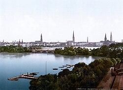 Lombardsbrücke in Hamburg (c. 1895).jpg