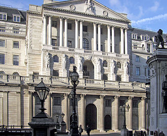 Lender of last resort - The Bank of England in London