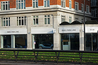 BMW i - BMW i Park Lane showroom in London.