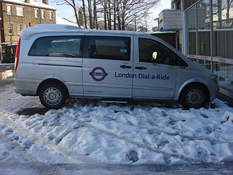 London Dial-a-Ride - A Mercedes-Benz Vito minibus.