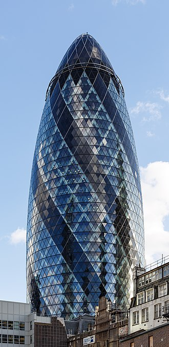 Kirkland & Ellis - London office at 30 St Mary Axe, popularly known as the Gherkin