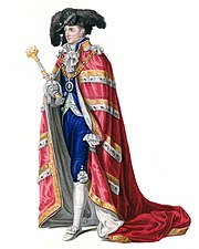 Lord Mayor of London in his coronation robes. (1821)