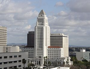 March 2006 LAUSD student walkouts - Los Angeles City Hall, one of the primary locations where the student protestors gathered