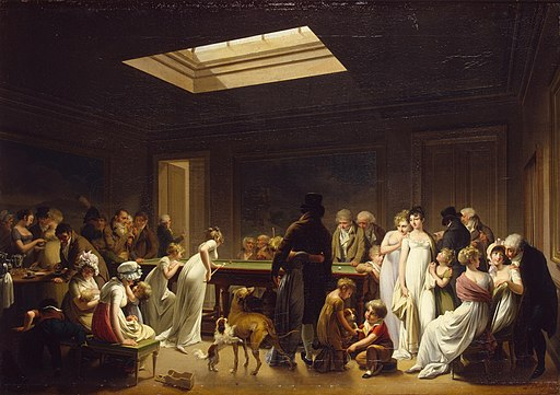 Louis-Léopold Boilly - Game of Billiards - WGA02350