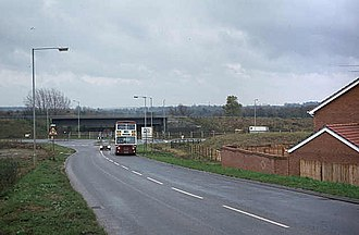 Lower Earley - View down Beeston Way in 1982 during the development of Lower Earley